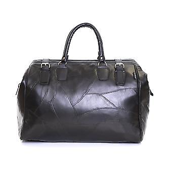 Slimbridge Malaga Leather Travel Bag, noir