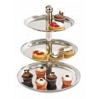3-Tier Kuchen mit Edelstahlfuß