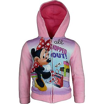 Disney Minnie Mouse Girls Fleece Full Zip Hooded Sweatshirt