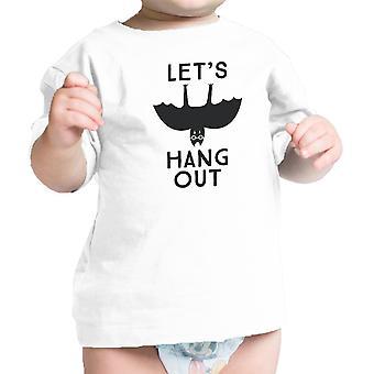 دعونا شنق الرضع مضحك الخفافيش التي شيرت أبيض بيبي الأول هالوين