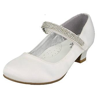 Spot de filles sur milieu talon Diamante Strap chaussures H3066