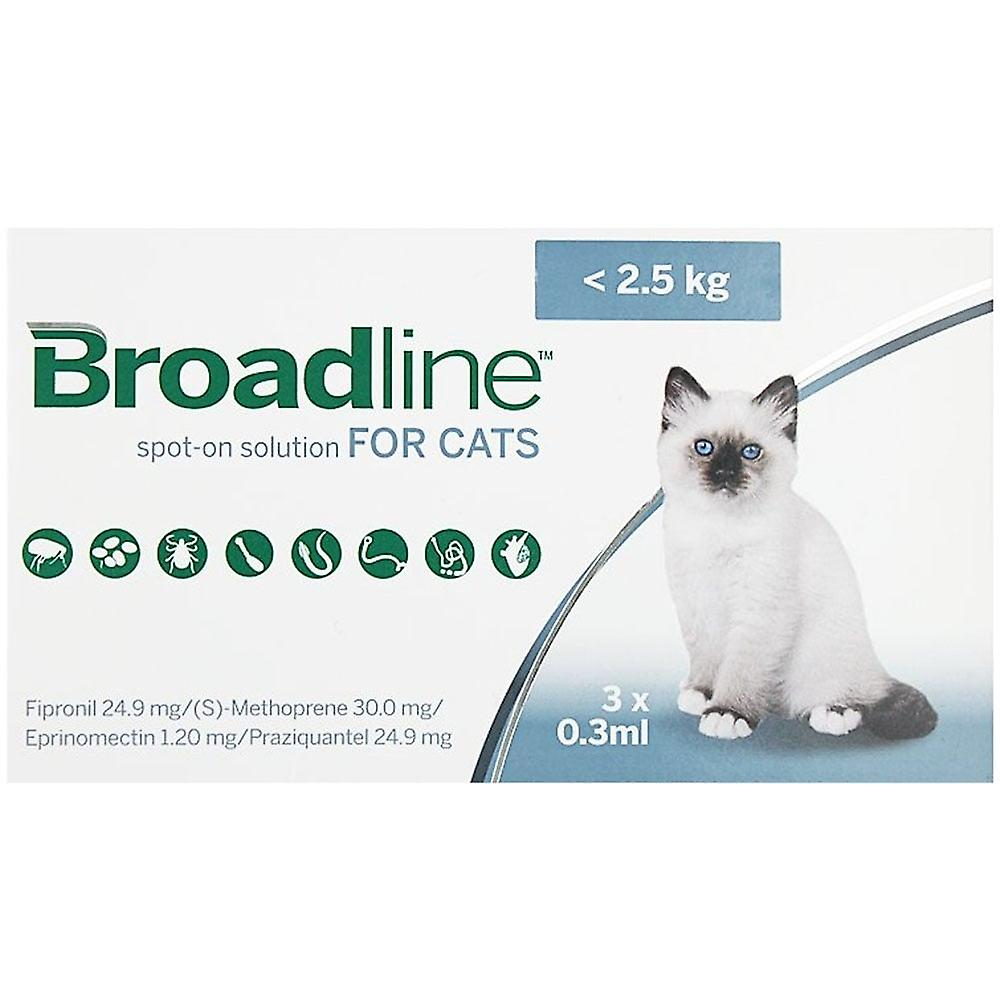 Broadline Spot-On solution for Cats (small)  up to 2.5kg, 3pack