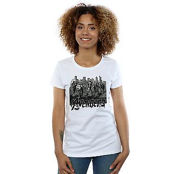 Vrouwen Marvel Avengers Mono Team Art T-Shirt