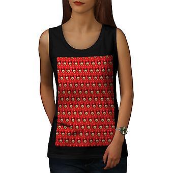 Cute Pattern Women BlackTank Top | Wellcoda