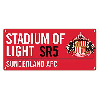 Sunderland AFC Official Stadium Of Light Colour Street Sign