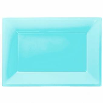 Amscan műanyag téglalap alakú fél tálak (db 3)