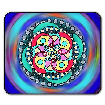 Mandala Spiral  Non-Slip Mouse Mat Pad 24cm x 20cm | Wellcoda