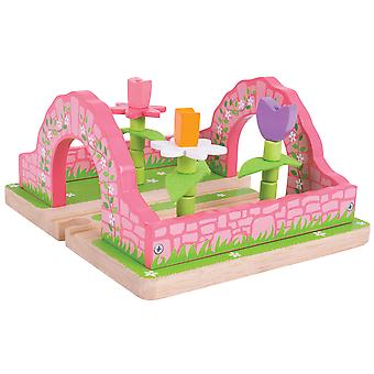 Bigjigs Rail Wooden Flower Garden Pink Train Track Railway Accessories