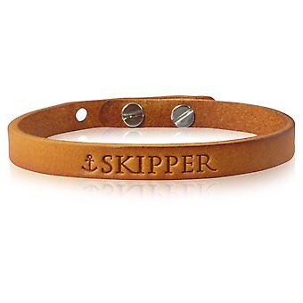Armband leder armband in Cognac grootte verstelbaar 7165 schipper