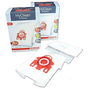 Miele støvsuger renere FJM HyClean 3D effektivitet støv taske & Filter Pack - pakke med 8 poser