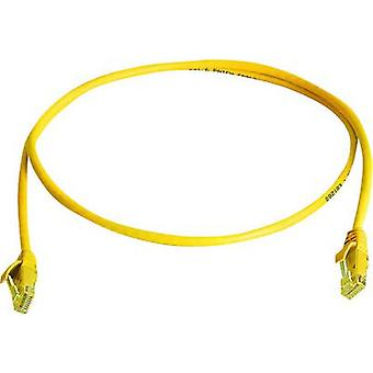 Telegärtner RJ45 L00000A0295 Network cable, patch cable CAT 6 U/UTP 1.00 m Yellow Flame-retardant, Halogen-free