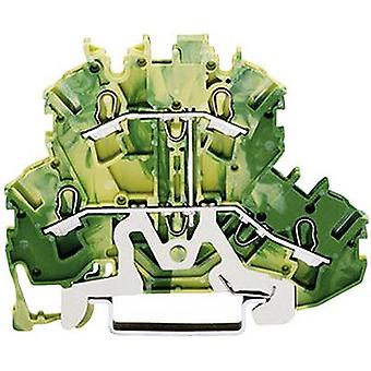 WAGO 2002-2207 Dualport PG Klemme 5,20 mm Zugfeder Konfiguration: Terre Green, Gelb 1 Stk.