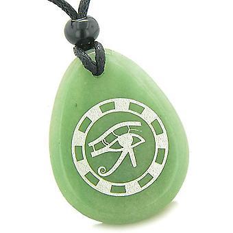 Amulette All Seeing Eye d'Horus ancien cercle de vie Protection vert Aventurine pendentif
