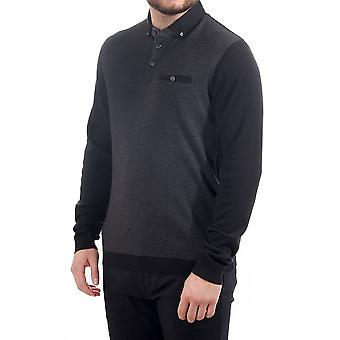 Ted Baker Mens Woolpak Ls Mouline Polo