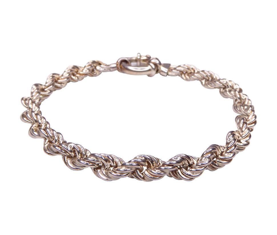 Christian zilveren geweven armband