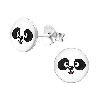 Panda - 925 Sterling Silver Colourful Ear Studs - W19718X