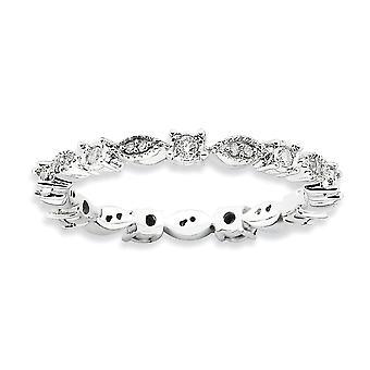 2.25mm 925 Sterling Silver Prong asettaa Rhodium kullattu pinottava ilmaisuja kiillotettu Diamond Ring korut lahjat naisille