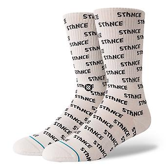 Stance Repeat Crew Socks in White