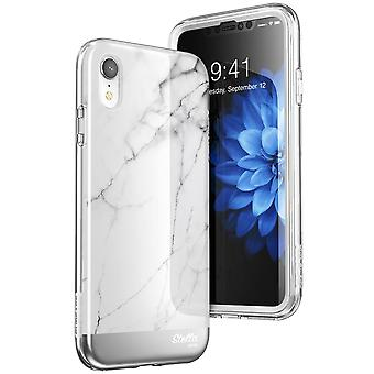 iPhone XR tapauksessa [yksisarvinen Beetle Stella] sisäänrakennettu näyttö suojelija Premium hybridi Glitter tapauksessa 2018 Release (marmoria)