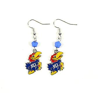 Kansas Jayhawks NCAA Sophie Style Dangle Earrings