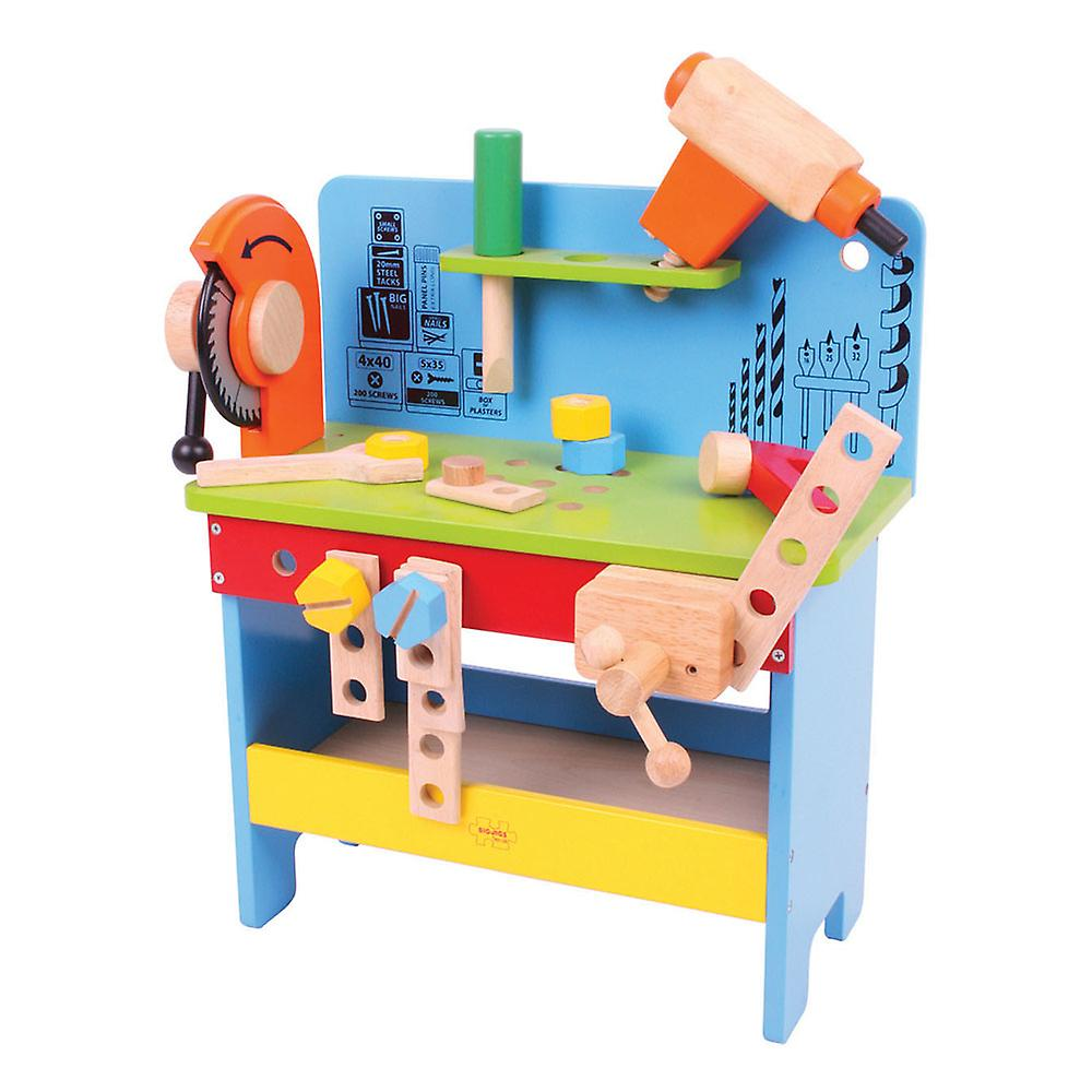 Bigjigs Toys Wooden Powertools Workbench Construction Builder Roleplay