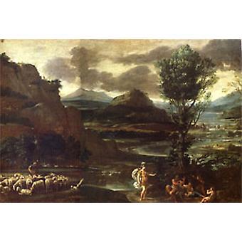 Herminia mit den Sheperds, Domenichino, 60x40cm
