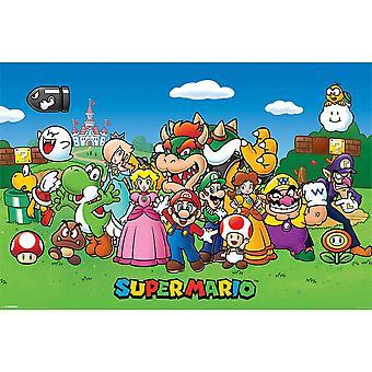 Affiches de personnages de super Mario