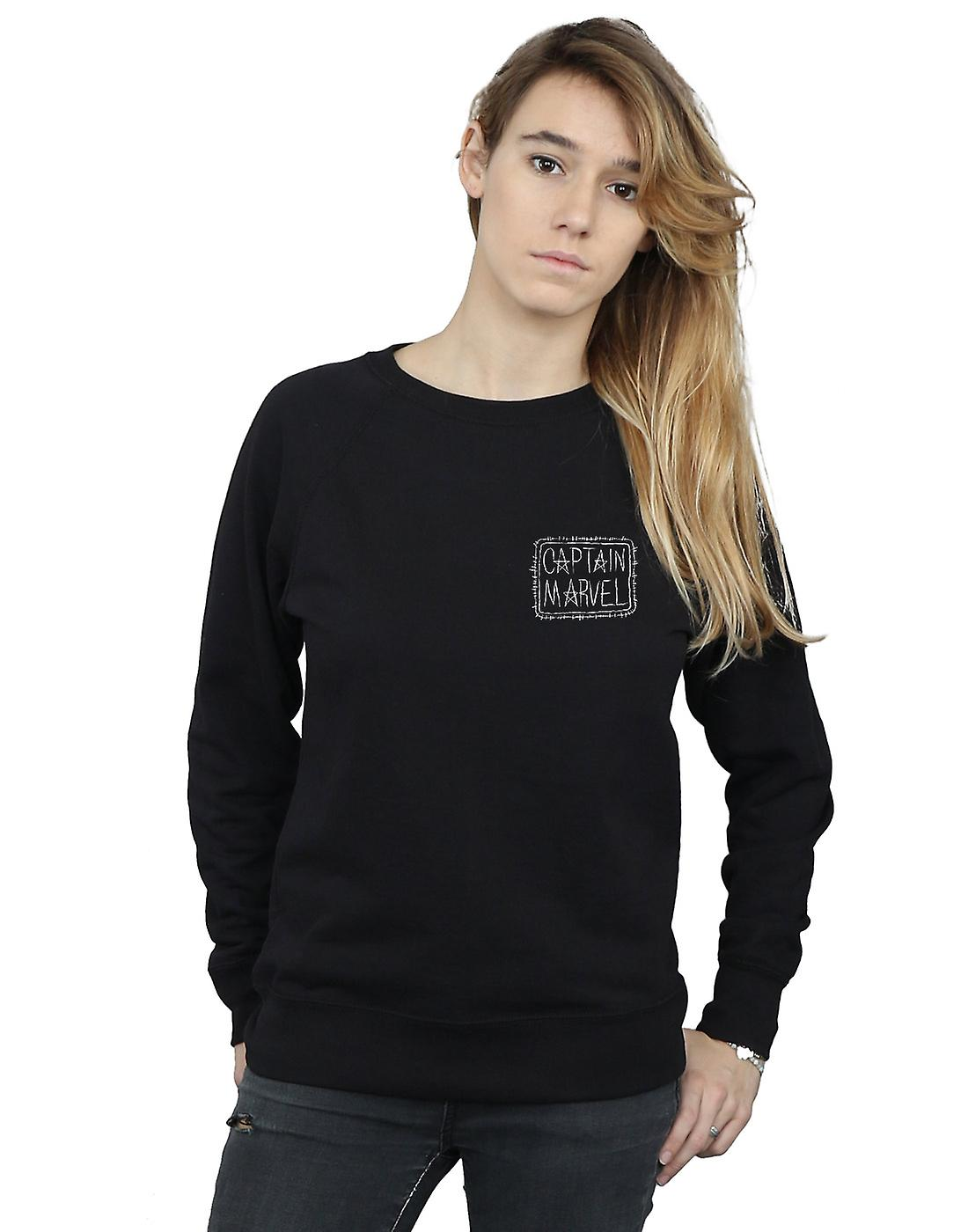 Marvel Women's Captain Marvel Breast Patch Sweatshirt