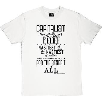 John Maynard Keynes Kapitalismus Zitat Herren T-Shirt