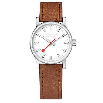 Mondaine evo2 Brown Leather Strap Ladies' Watch MSE.30110.LG 30mm