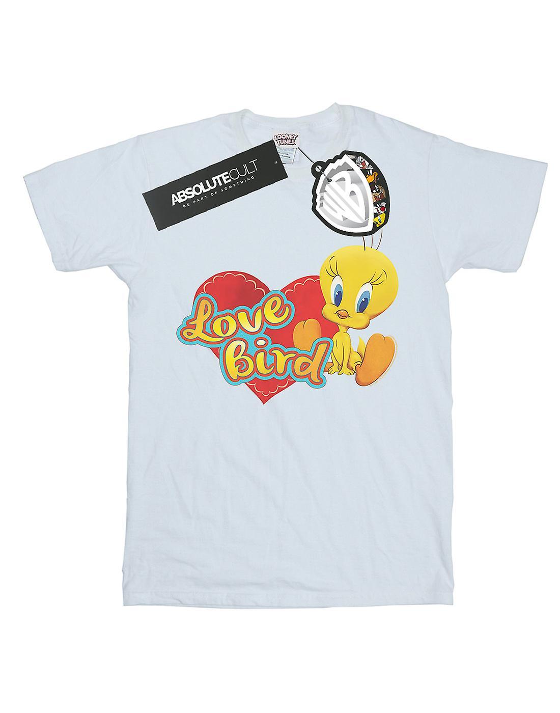 Looney Tunes Women's Tweety Pie Valentine's Day Love Bird Boyfriend Fit T-Shirt