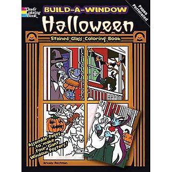 Bouwen van een venster gebrandschilderd glas boek Halloween kleurplaten