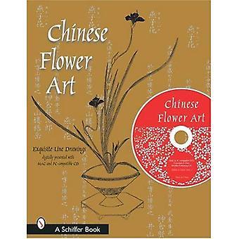 Arte chino de la flor: dibujos con CD