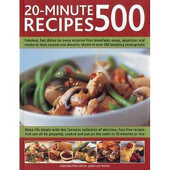 500 20 minuten recepten: geweldig, snelle gerechten voor elke gelegenheid van ontbijt, Snacks, soepen en voorgerechten Hoofdgerechten en Desserts, weergegeven in meer dan 500 verleidelijk foto's