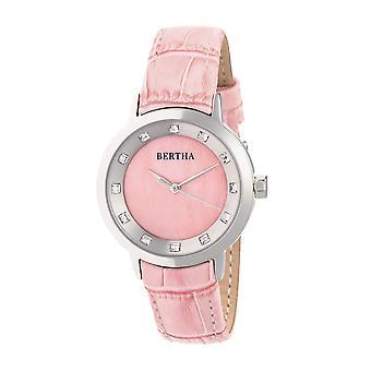 Bertha Cecelia ceas cu bandă din piele-roz