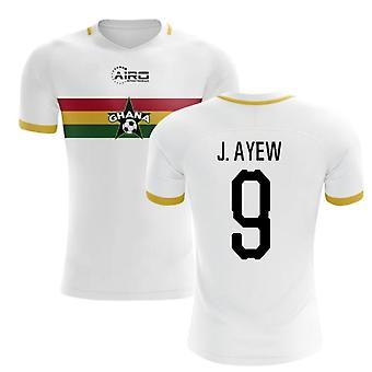 2020-2021 Ghana Away Concept Football Shirt (J. Ayew 9) - Kids
