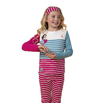 Lighthouse Causeway Girls Top Stripe/Mermaid Print