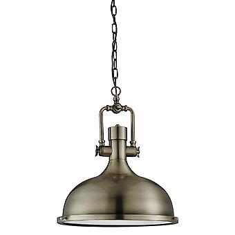Sökarljus industriell taklampa i antik mässing med glas diffusor