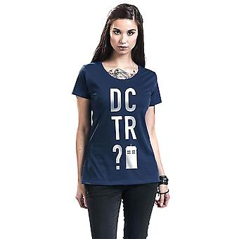 Women's Doctor Who DCTR? Blue Fitted T-Shirt