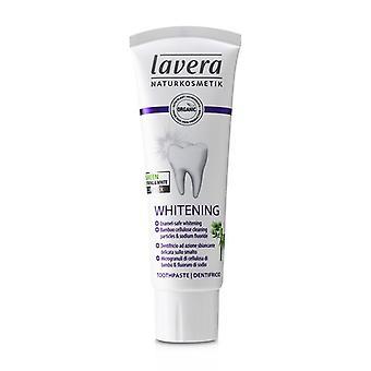 Lavera टूथपेस्ट (सफेद) - बांस सेलूलोज़ सफाई कण और amp के साथ सोडियम फ्लोराइड - 75ml/