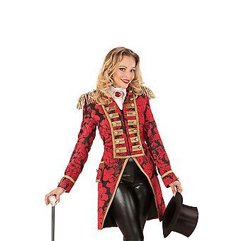 Red Jacquard Parade Damen Tailcoat