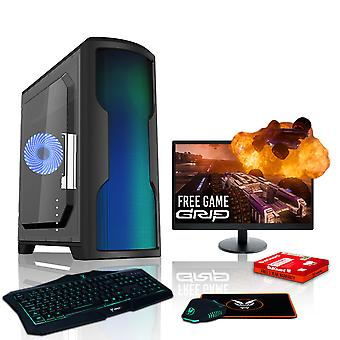 Felle BALLINGSCHAP Gaming PC, snelle AMD Athlon X 4 950 3,8 GHz, 1 TB HDD, 8 GB RAM, GTX 1050 2 GB