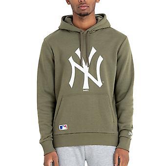 New Era Fleece Hoody - MLB New York Yankees oliv