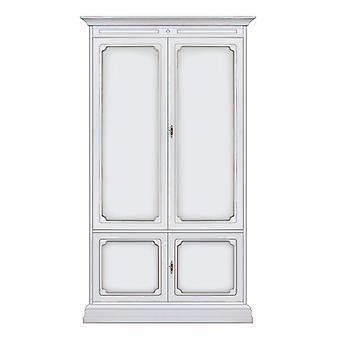 Kleiderschrank 2 hölzerne Türen klassischer Stil