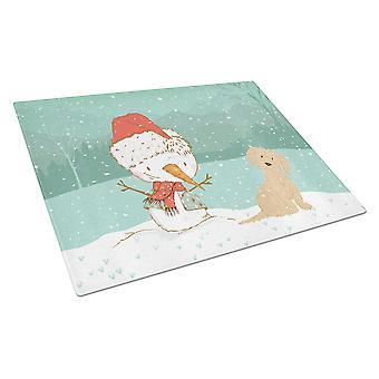 Ruskea Maltan lumi ukko joulua lasin leikkuu lauta suuri
