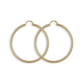 Kreolsk belagt guld 50mm rund Wire tykkelse 2.50 mm