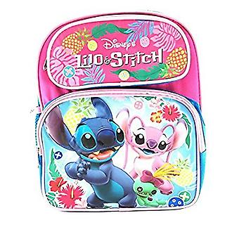 Small Backpack - Disney - Lilo and Stitch Pink 12