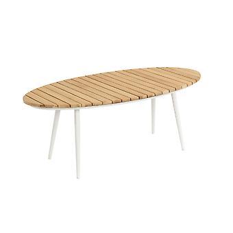 Strand7 | Fontelina ovaler Garten Tisch Lounge Tisch Weiß | Lounge-Sets