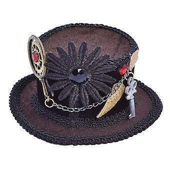 Bristol Novelty Womens/Ladies Steampunk Top Hat Headpiece