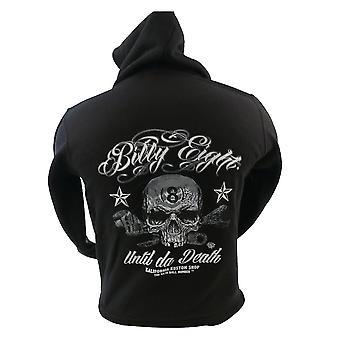 Billy eight - until da death - mens hoodie - black